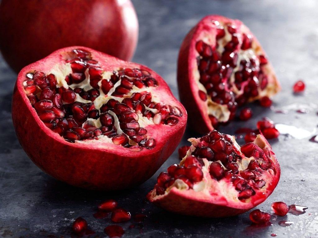 Broken into pomegranate personal shot
