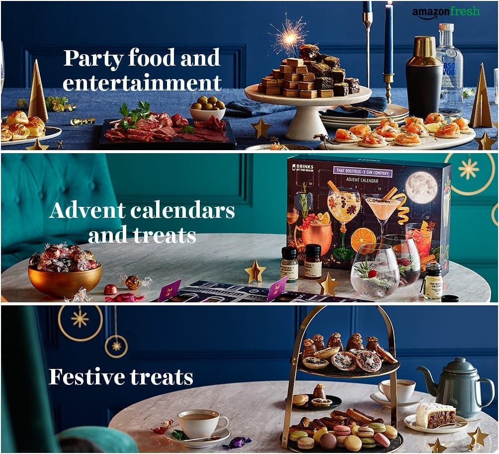 Amazon fresh christmas party food advent calendars festive treats