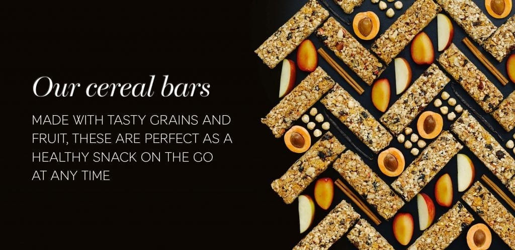 Fruit and cereal bars to eat on the go