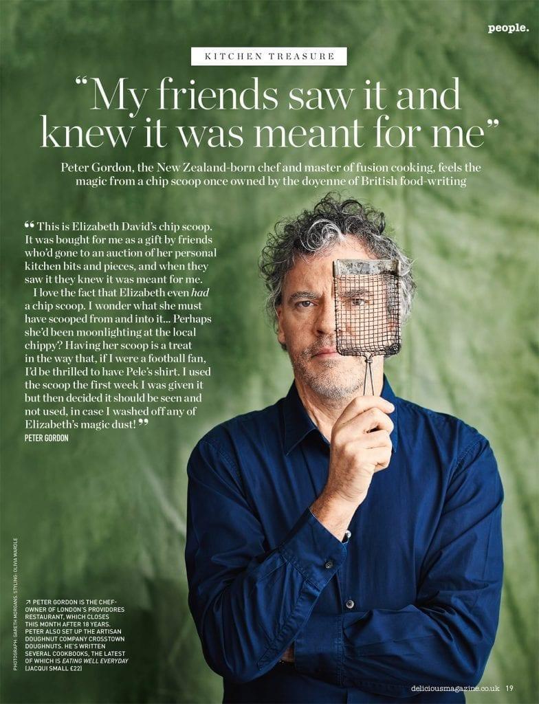 Chef Peter Gordon portrait editorial shot for Delicious Magazine July 2019