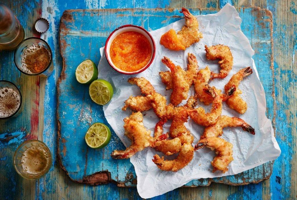 BBC Online, Rick Stein Road trip to Mexico. Crispy coconut prawns