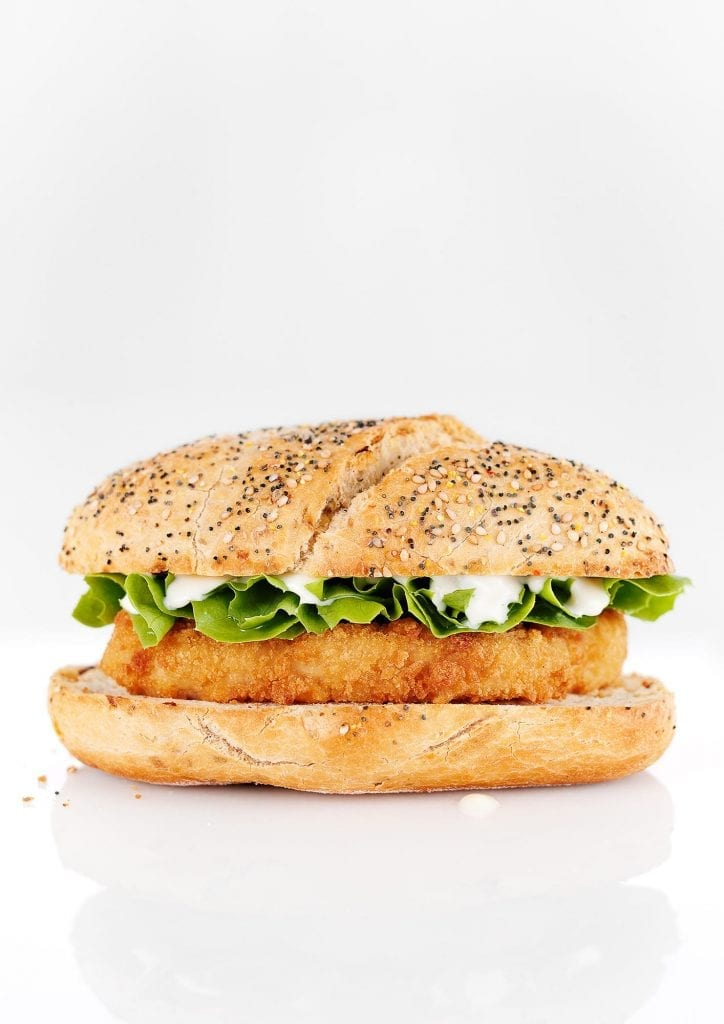 Personal shot of a Chicken Burger with Mayonnaise