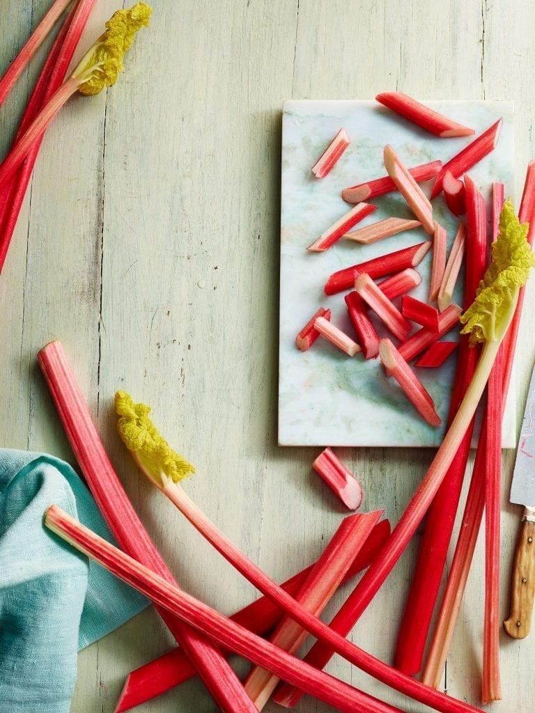 Rhubarb ingredient shot