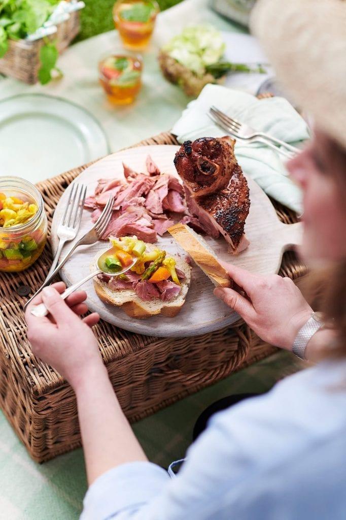 felicity cloak picnic ham hock sandwich