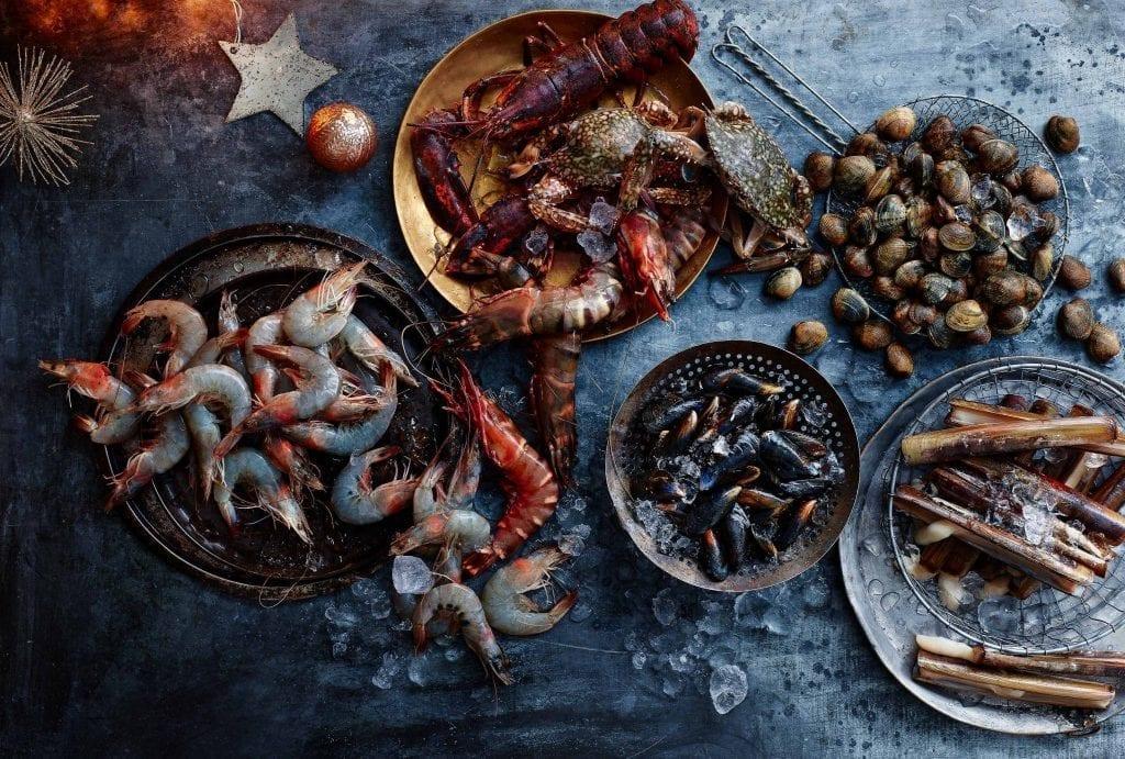 seafood medley mussels lobster prawns dia supermarket
