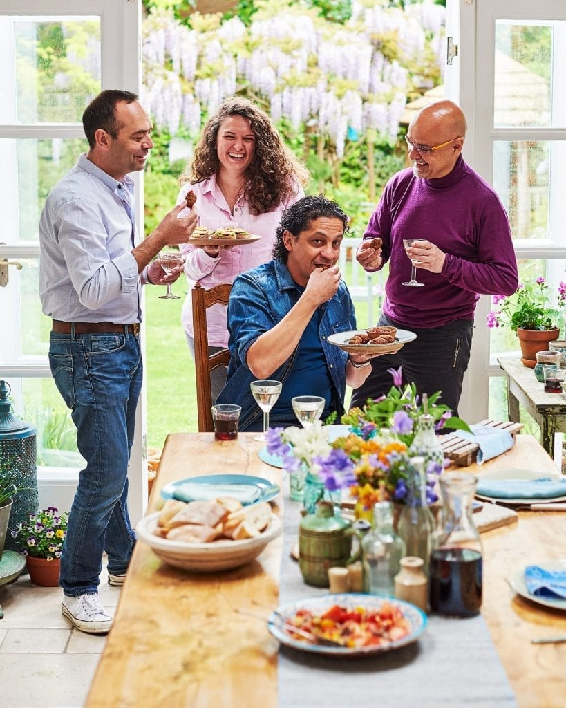 Chefs Dinner with Francesco Mazzei, Theodore Kyriakou, Selin Kiazim and Jose Pizarro. The feast was showing dishes from their home countries, shot for Delicious Magazine.