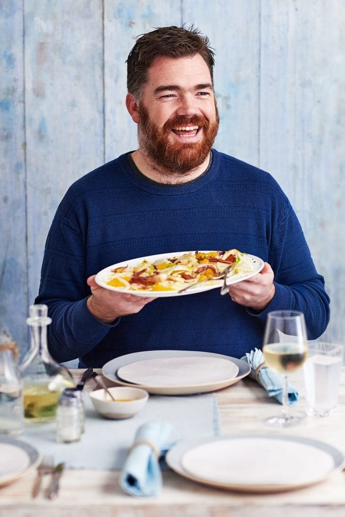 Chef portrait of Nathan Outlaw for Delicious Magazine which was part of a fish feature.