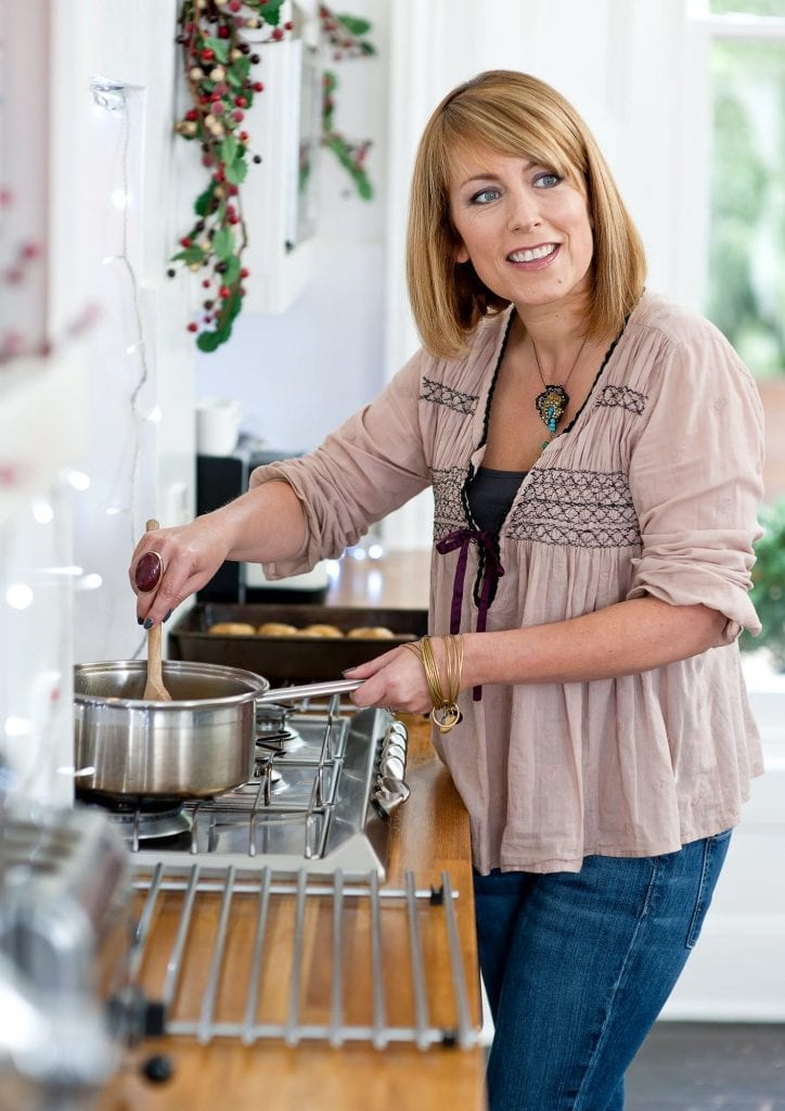 Fay Ripley in the kitchen
