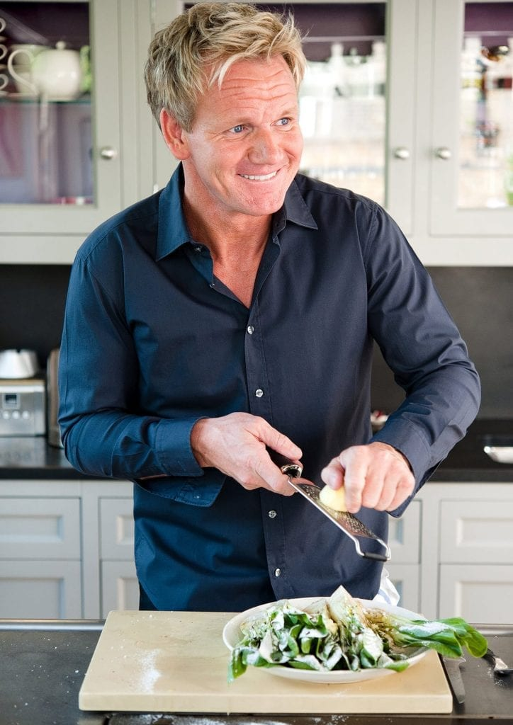 Gordon Ramsey in the kitchen