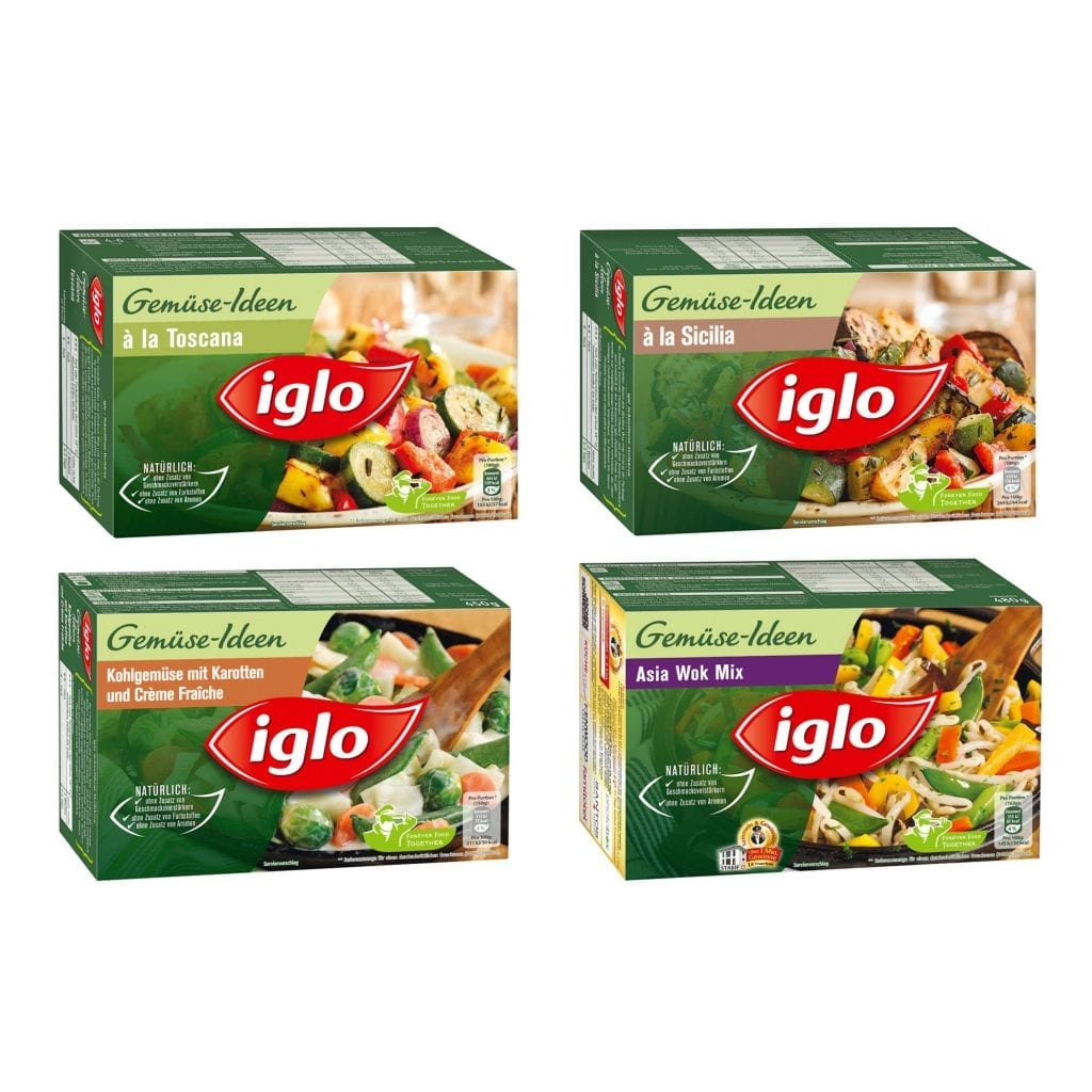 Iglo vegetable mixes