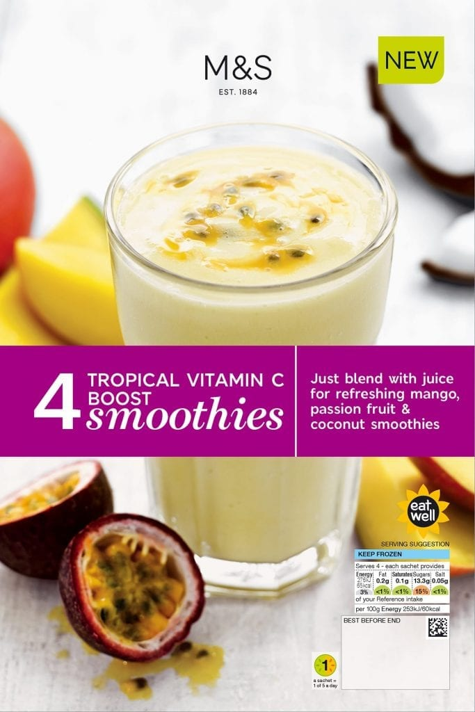 Tropical vitamin C boost smoothie