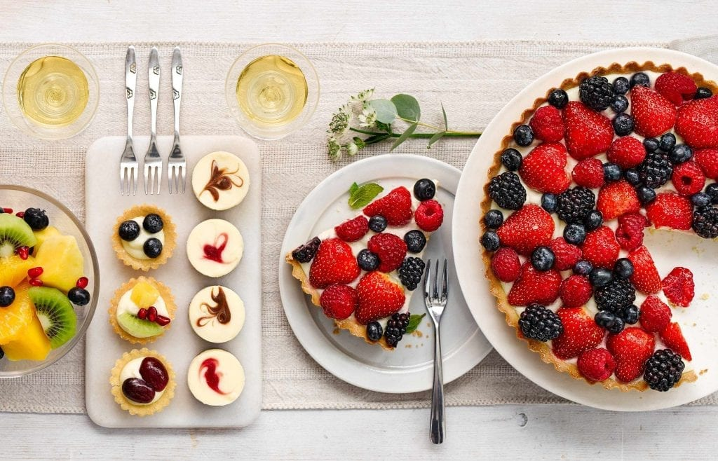 Image of a variety of desserts shot for Marks and Spencer for the website of their Food To Order