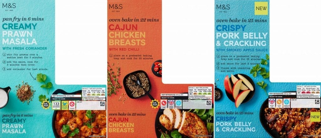 Creamy prawn masala, cajun chicken breasts, crispy pork belly and cracking packaging