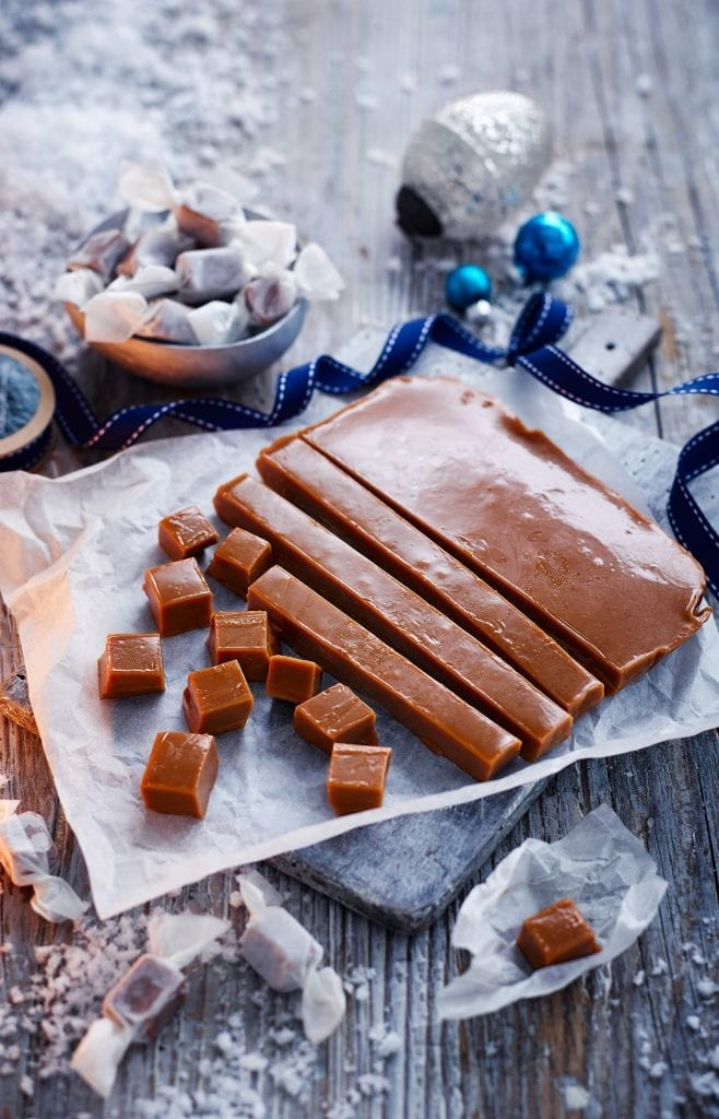 Sweet Miso Caramels shot for Olive Magazine at Christmas.