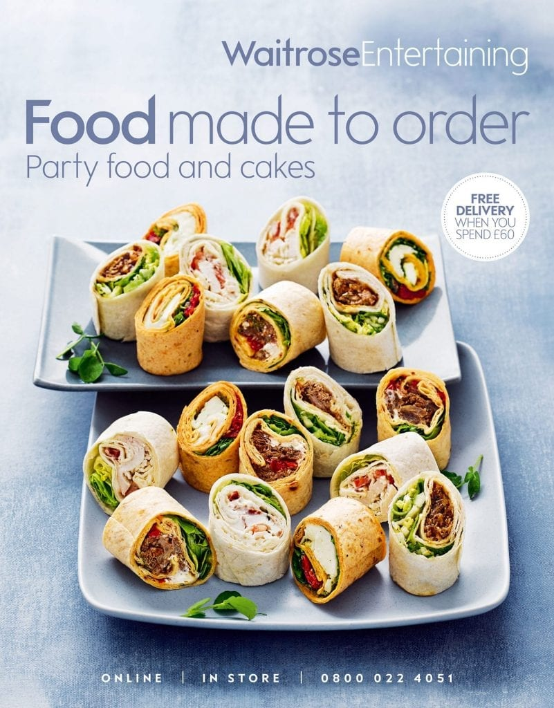 Food made to order cover for Waitrose Entertaining of wrap selection