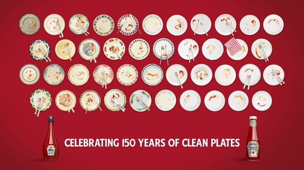 150 Years of Heinz sauces advertisement.