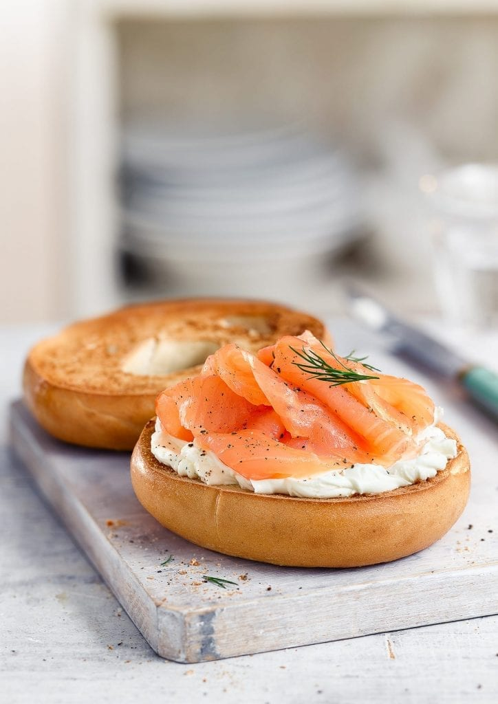 Personal Work of a Salmon bagel