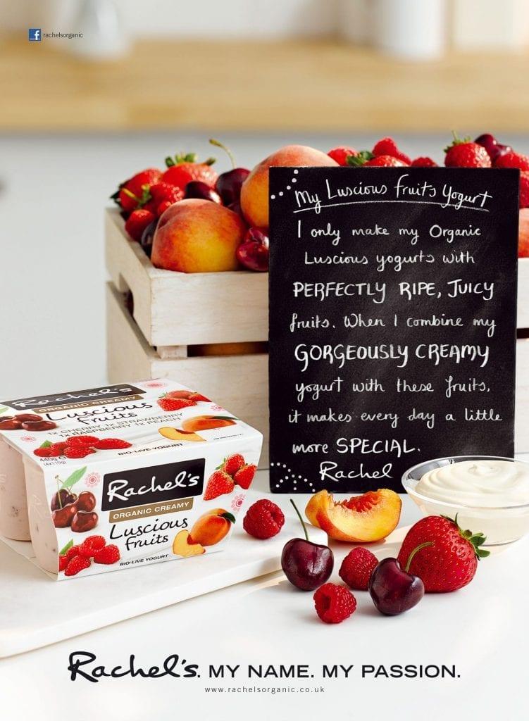 Rachel's Organic fruit yoghurts