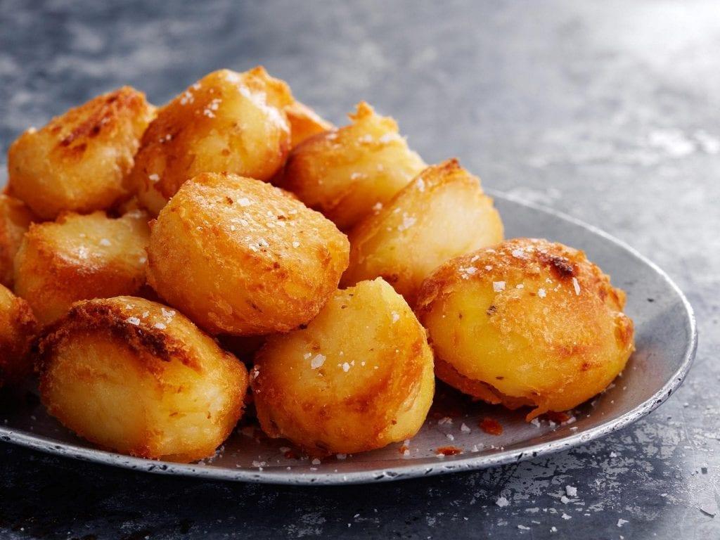 Plate of roast potatoes
