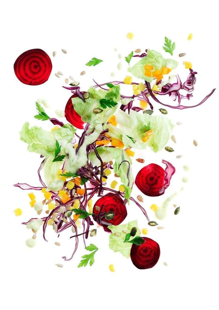 Exploding sweet, crispy salad