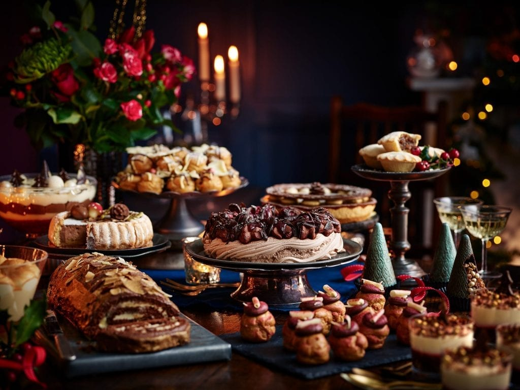 Shot for Tesco Christmas in July. Sensational desserts, fabulous fizz and festive meats with all the trimmings.