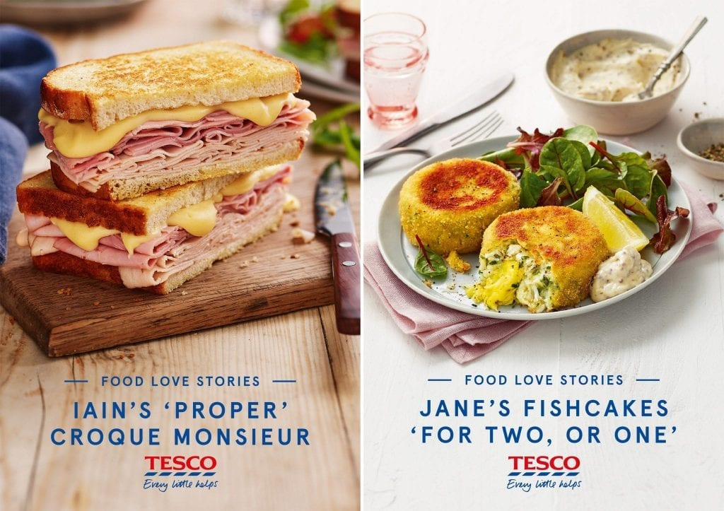 Part of a campaign for Tesco with their Food Love Stories. These recipe cards are of Jane's fishcakes and of Iains Croque Monsieur.